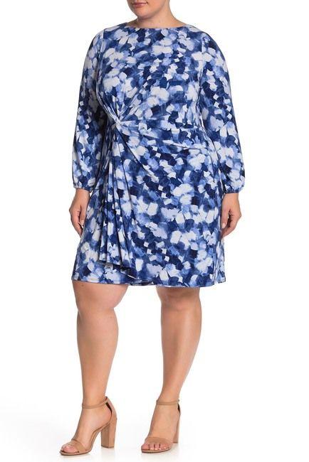 Jersey Knit Side Twist Dress (Plus Size) in 2019   Fashion ...