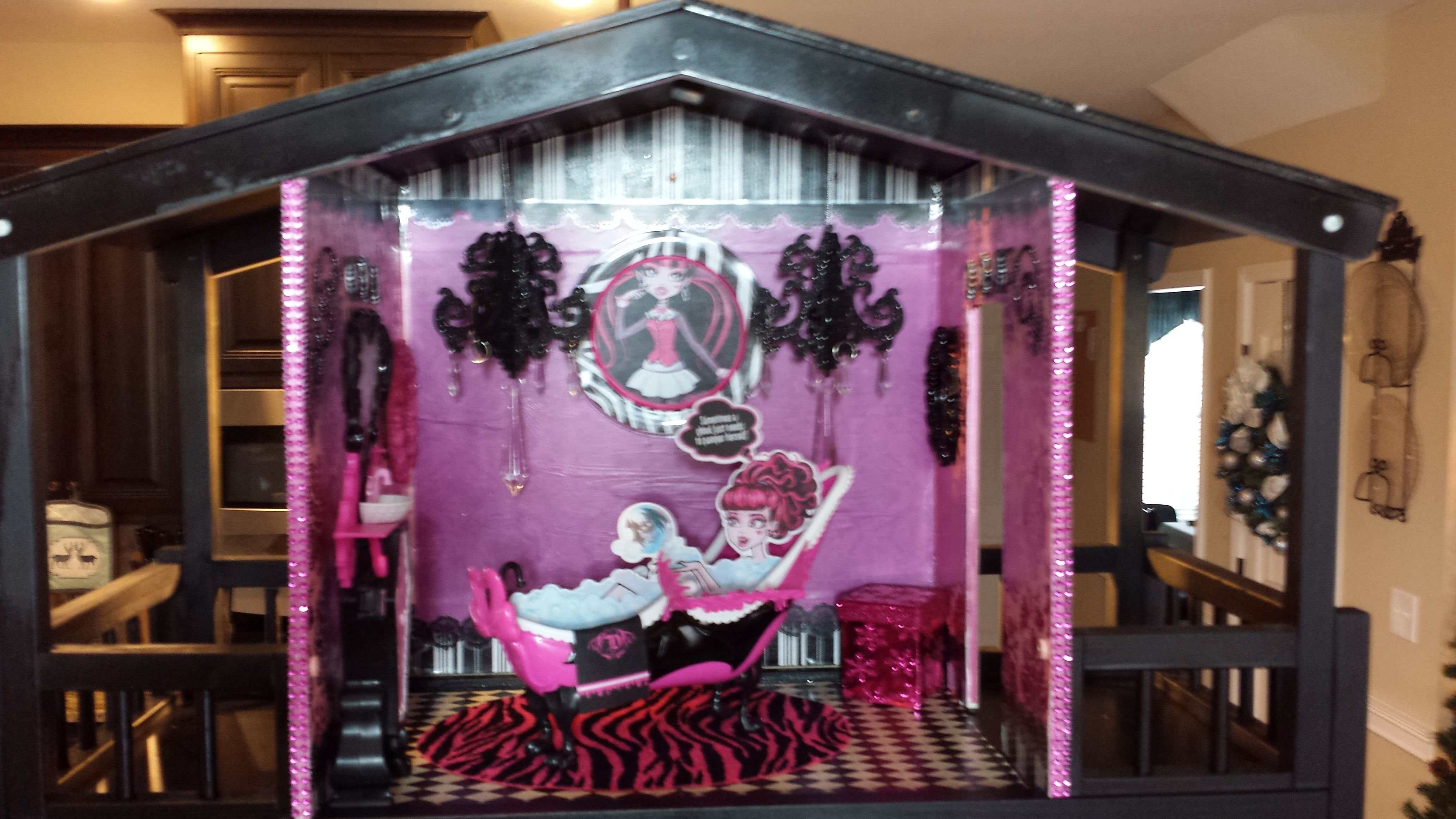 OOAK Monster High Doll House Penthouse Suite Theme