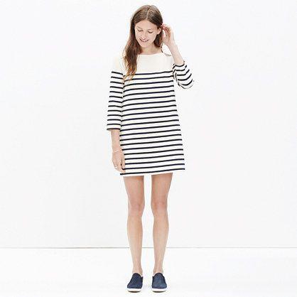 144.00 Striped Knit Dress   Madewell et Sezane   Sartorialist ... bd026e599553