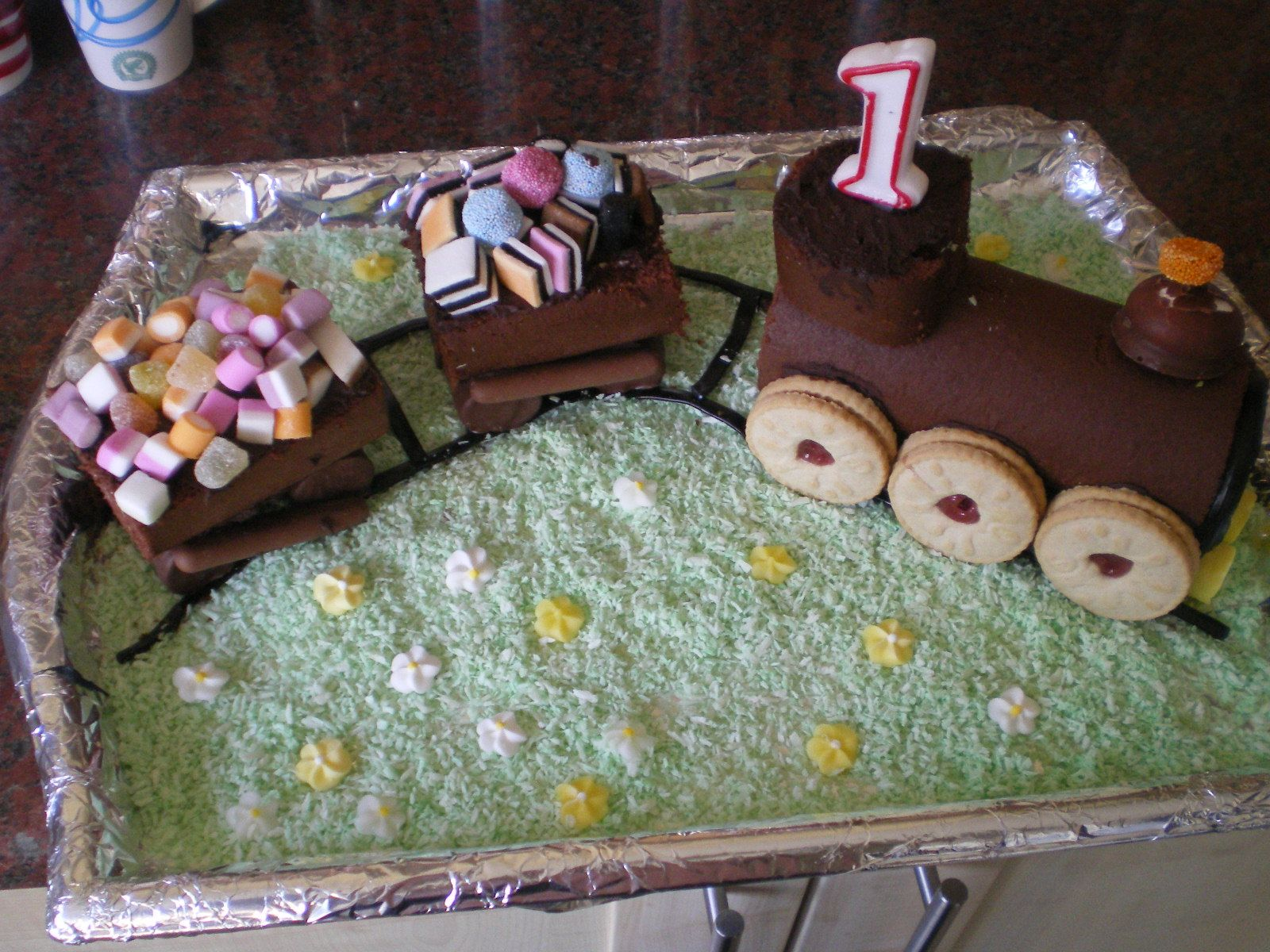 Train Chocolate Cake Easy To Make 1 Coloured Coconut For