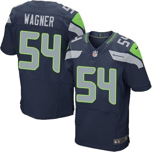 nike elite bobby wagner navy blue mens jersey seattle seahawks 54 nfl home