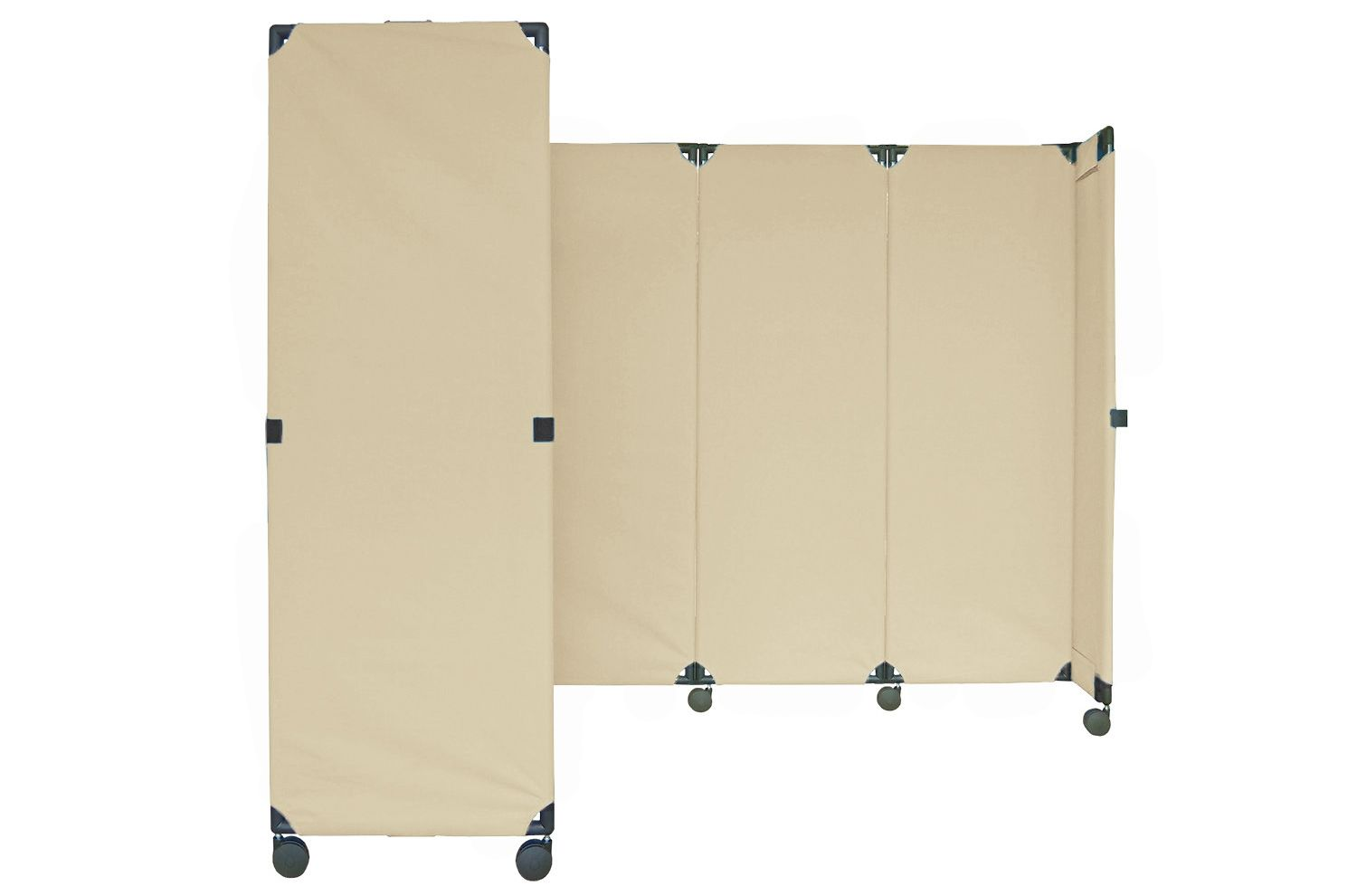 Need an affordable partition this is easy to use Our canvas roll