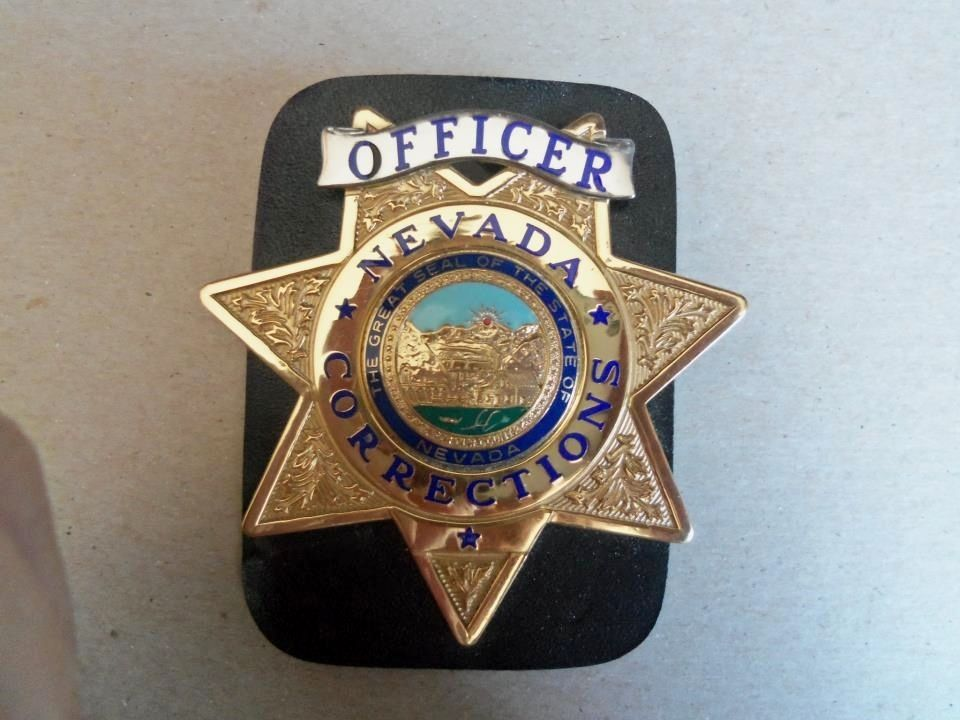 State of Nevada Dept  of Corrections My last badge, wallet type
