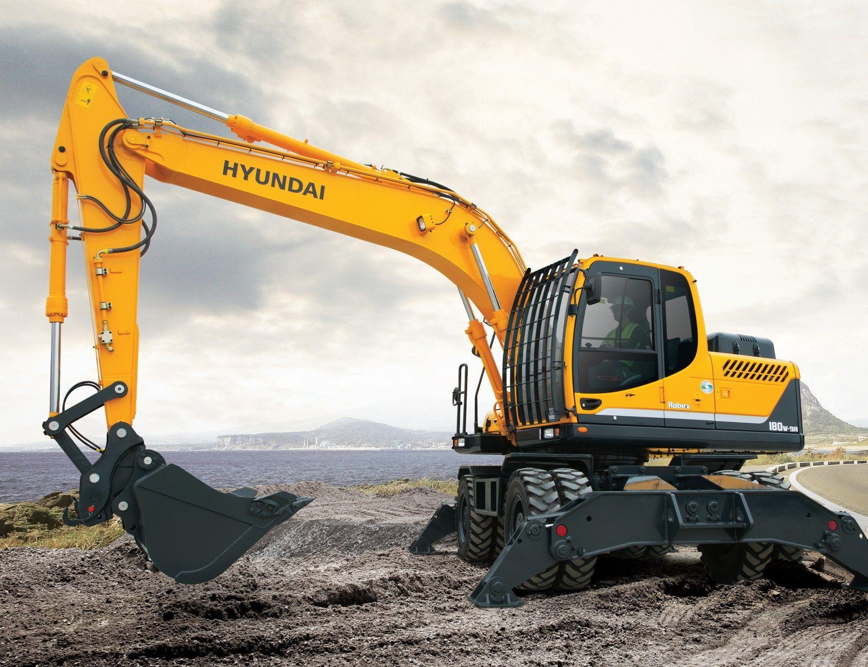 R180w 9a Wheeled Excavator Diggers Hyundai