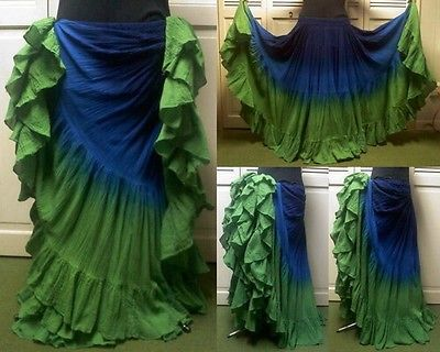 Belly Dance Tribal Cotton 25 Yard Skirt - Love these colours