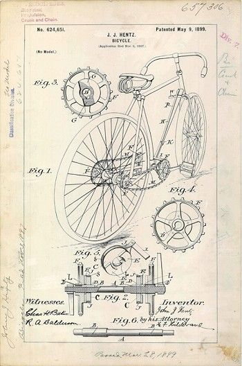 Modern Bicycle Patent #3 - 1899