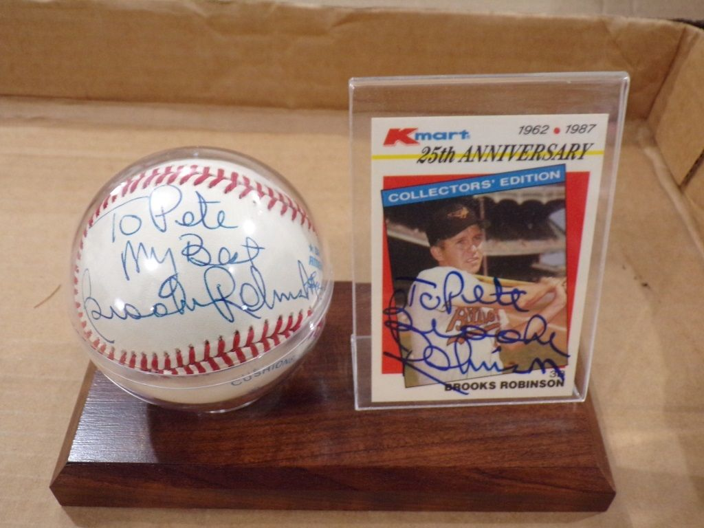 Signed Baseball Card Brooks Robinson Brooks Robinson Baseball Cards Robinson