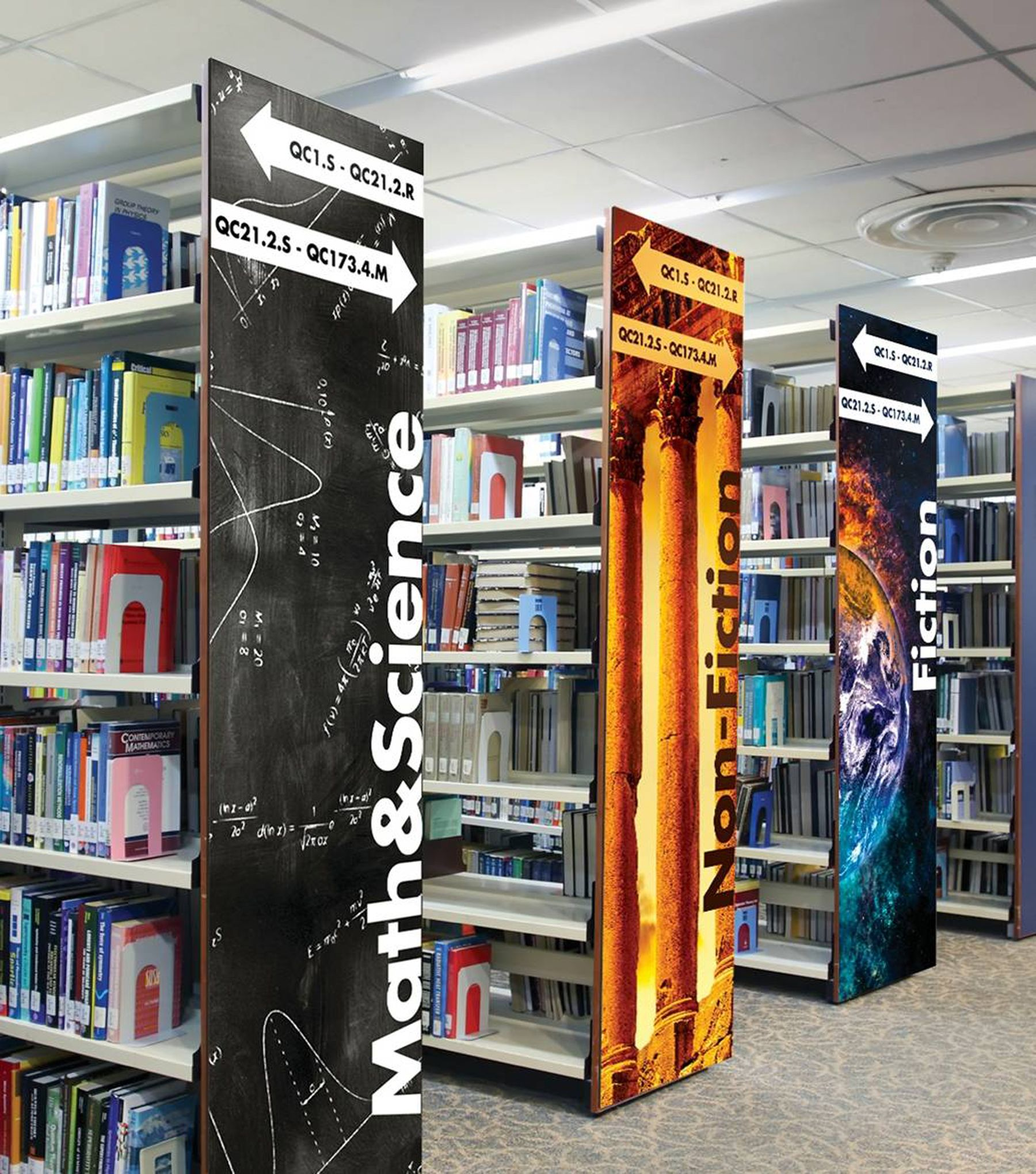 On Trend Products For Today S Libraries Library Signage Library Book Displays School Library Design