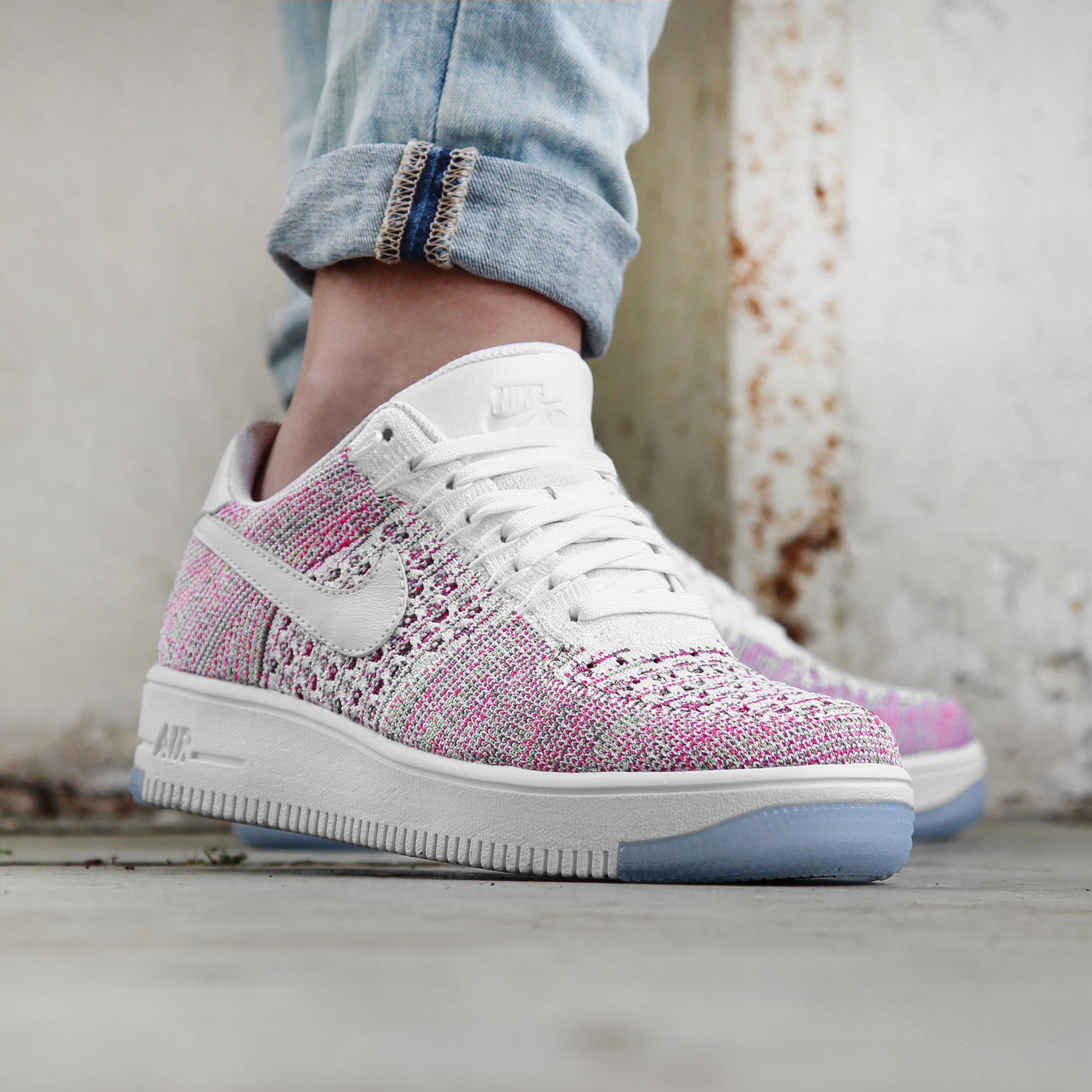 nike air force 1 flyknit roze