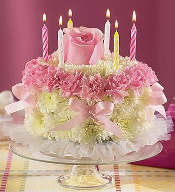 Birthday Flower cake Beautiful Cakes Pinterest Cake Birthday