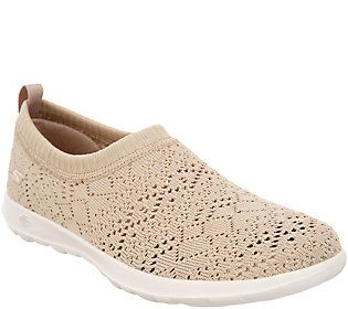 Skechers Go Walk Lite Knitted Slip On Shoes Harmony Qvc Com