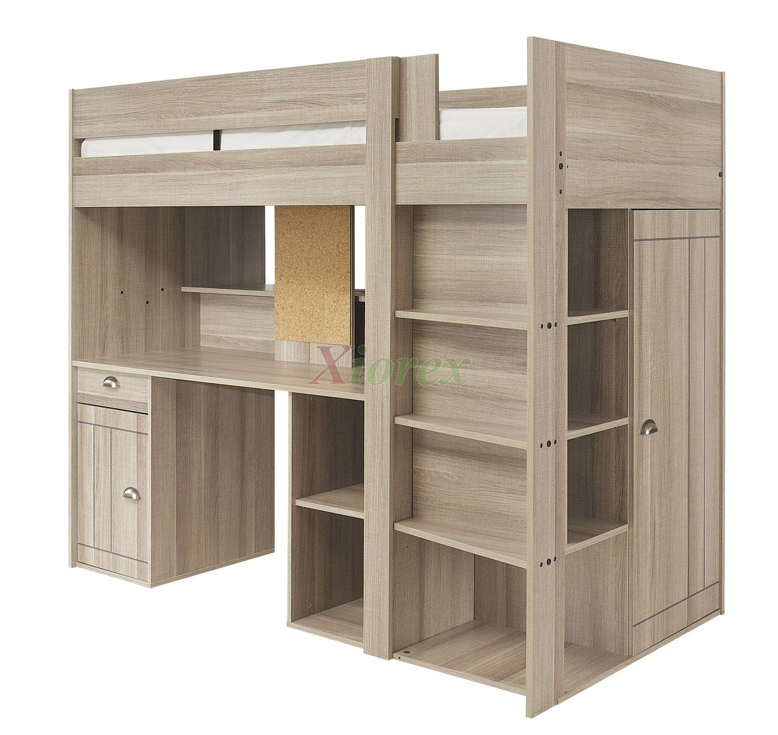 Bunk beds with desk and closet - Gami Largo Teen Loft Beds Canada With Desk And Closet Are New Designed Awesome Loft Beds