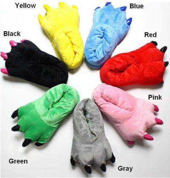 979e41c4a0fd0 Animal Paw Soft Plush Claws Slipper Slippers Paws Feet for women man ...