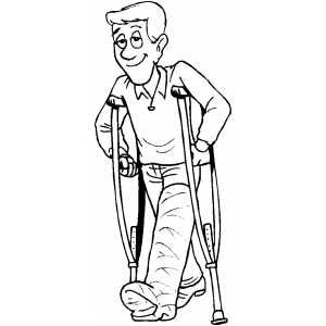 Man With Broken Leg Broken Leg Man Coloring Pages