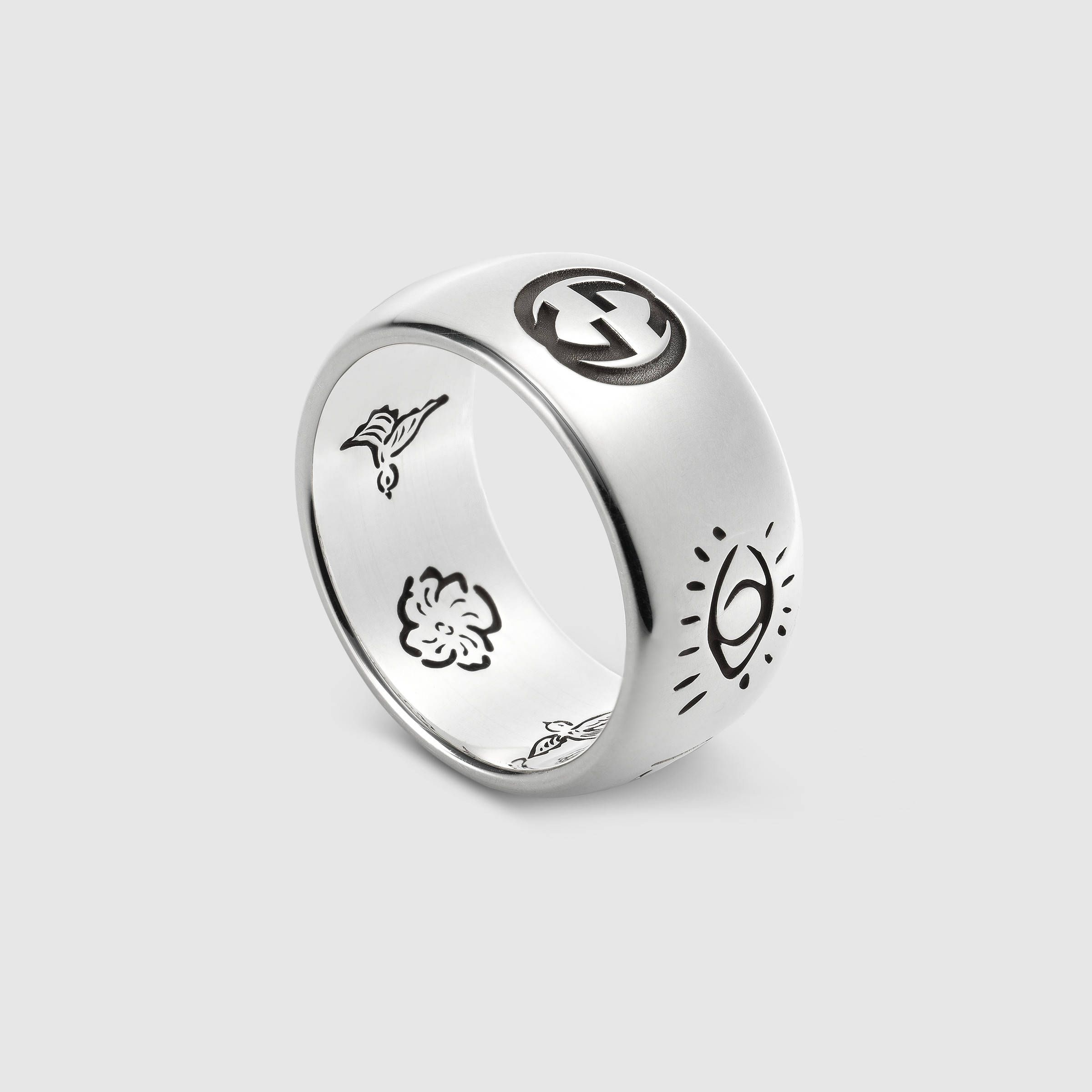 Blind for Love ring in silver Gucci Women s Jewelry & Watches