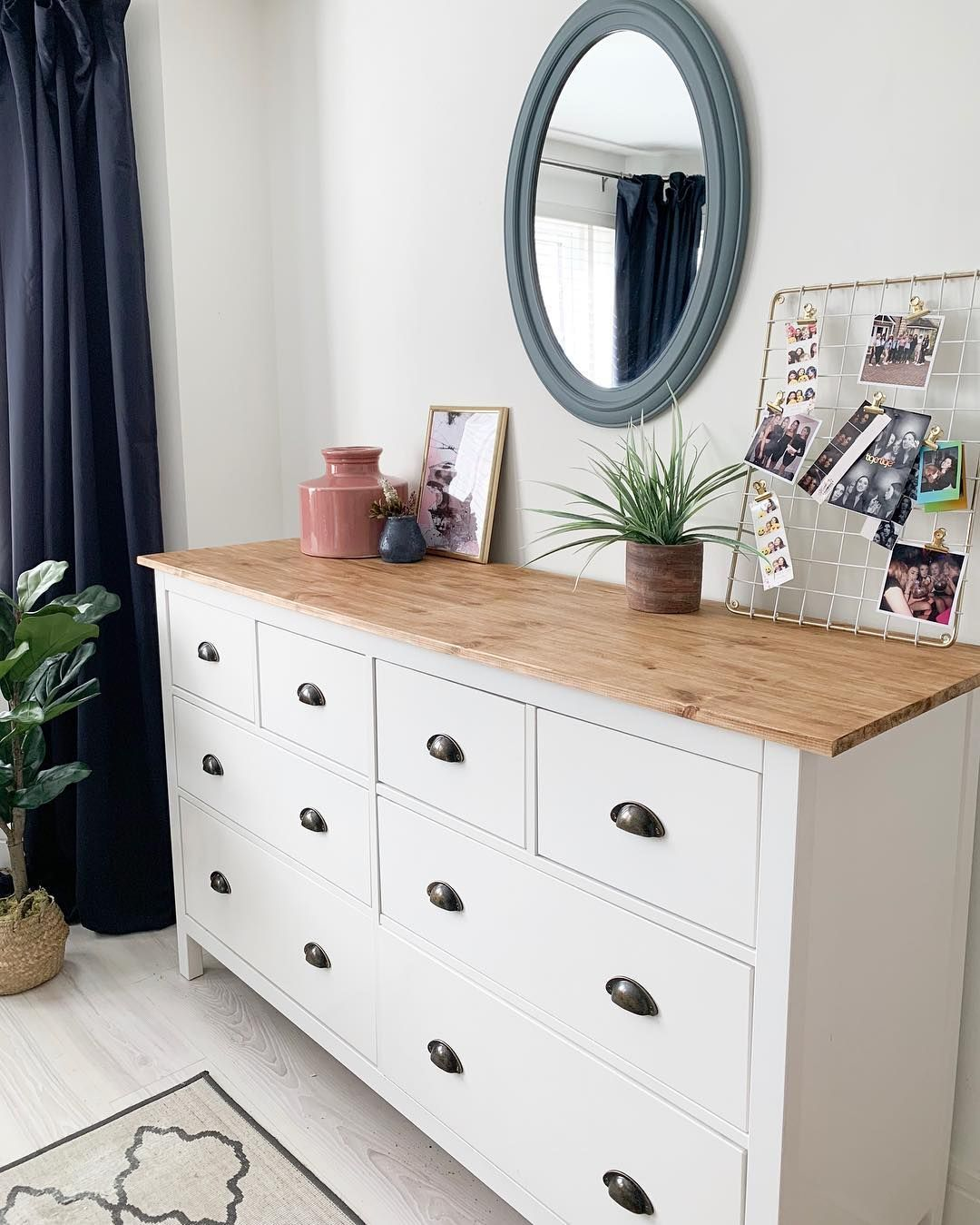 Ruth On Instagram A Saturday Morning Ikea Hack This Is The Shiny White Ikeauk Hemnes Chest Of Drawers So You Can T Sand Th Ikea Kommode Hack Ikea Haus Deko
