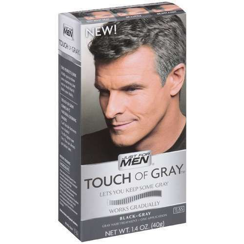 Black Men Haircuts, Touch Of Gray Dark Brown Gray Hair Color ...