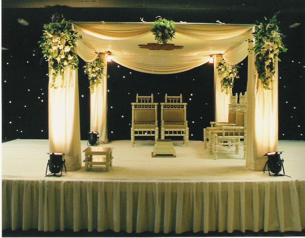 Por Wedding Stage Flower Arrangements