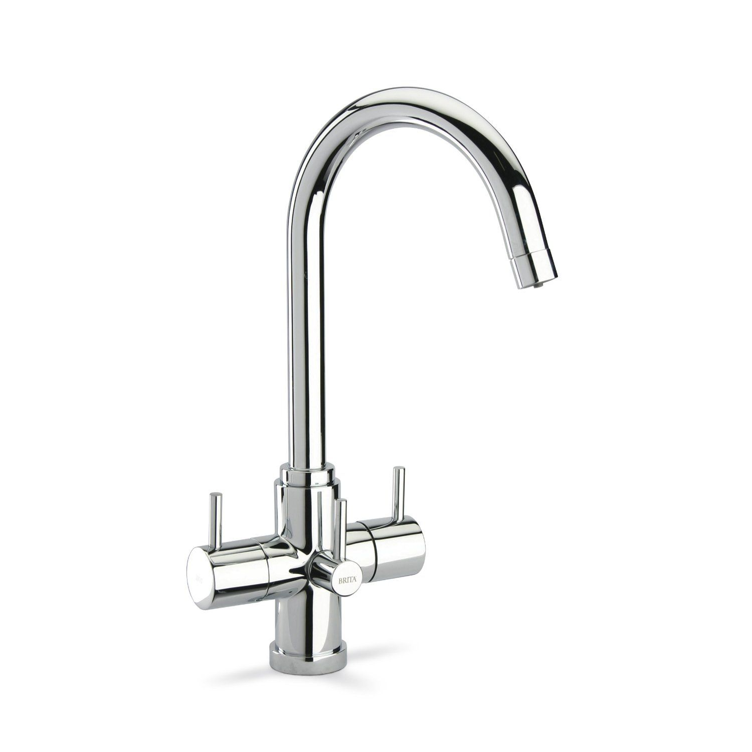 Brita Torlan Kitchen Tap Chrome Effect