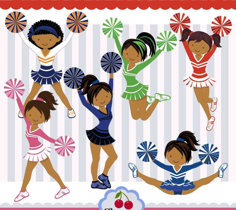 dark skin cheerleaders dark skin girls cheerleaders clipart rh pinterest co uk cheerleader clipart black and white cheerleader clipart outlines