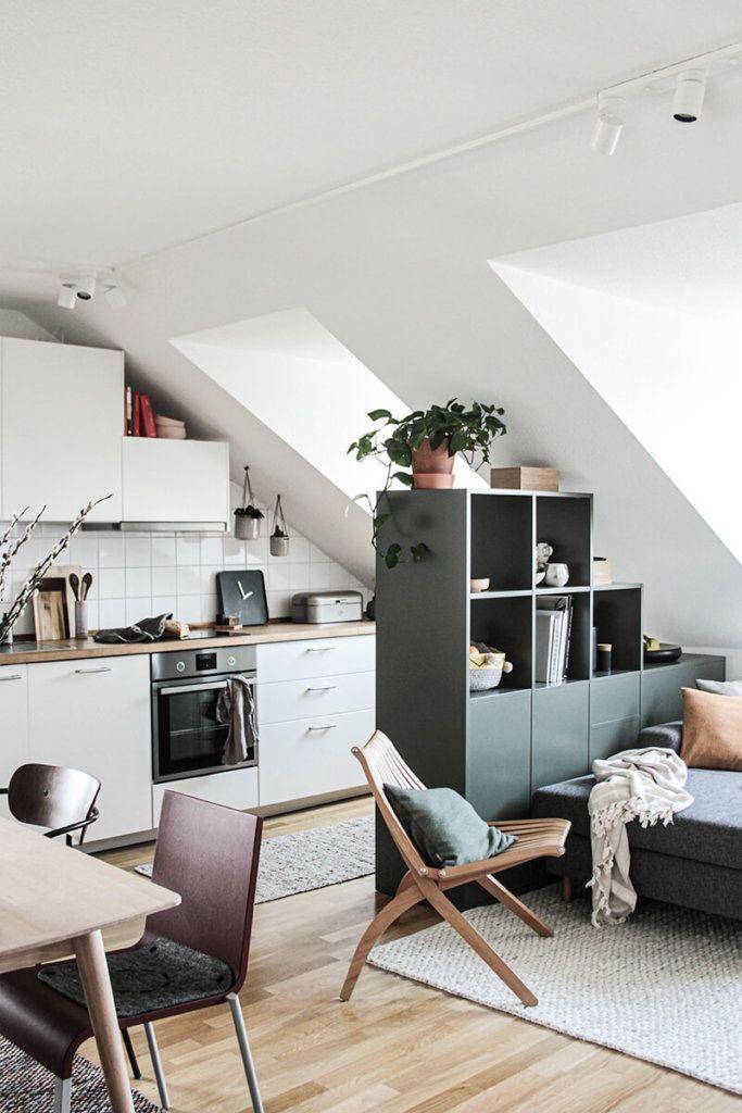 Gruner Raumtrenner Mein Neuer Alleskonner In Der Wohnkuche Kleine Wohnung Kuche Wohnkuche Wohnung Einrichten