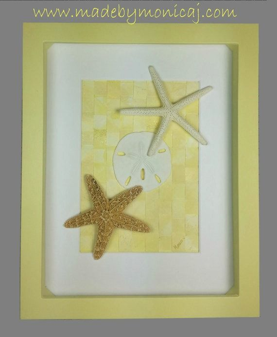 Coastal Home Decor 8x10. Yellow shadow box frame. Beach hugs and ...