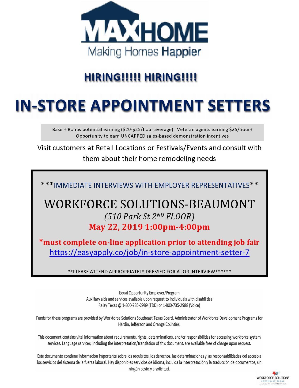 Career fair may 22 in beaumont tx texas jobs job