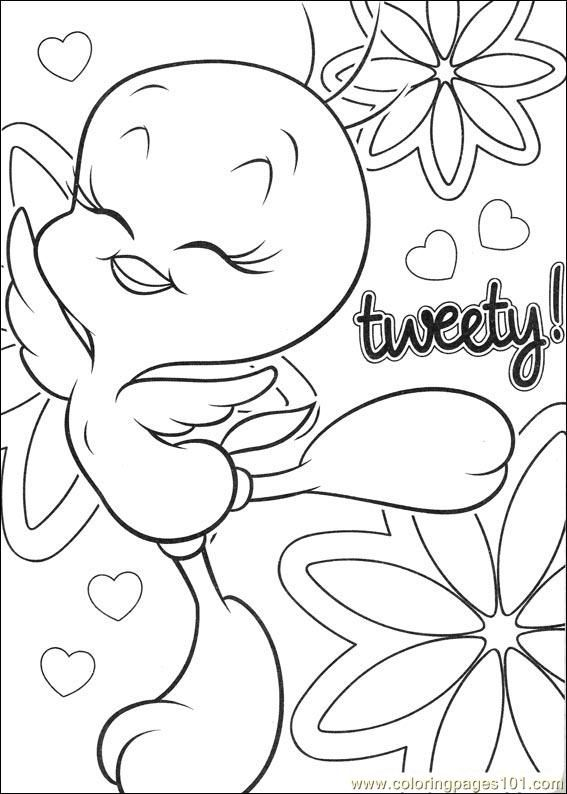 Tweety 62 Coloring Page Bird Coloring Pages Coloring Pages Cool Coloring Pages