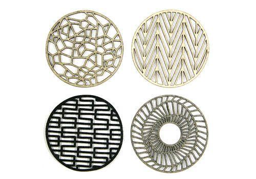 Molly M Felt Geometrics Coasters