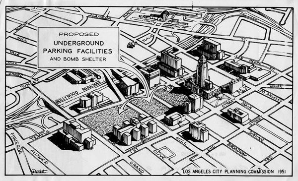 The Birth And Growth Of City Planning Bomb Shelter Los Angeles City Air Raid Shelter