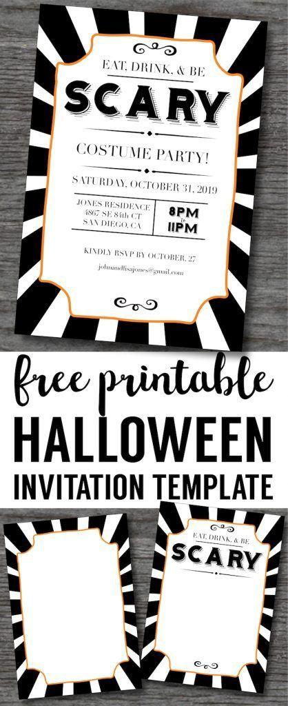 Halloween Invitations Free Printable Template Paper Trail Design Free Printable Halloween Invitations Free Halloween Invitation Templates Halloween Invitations