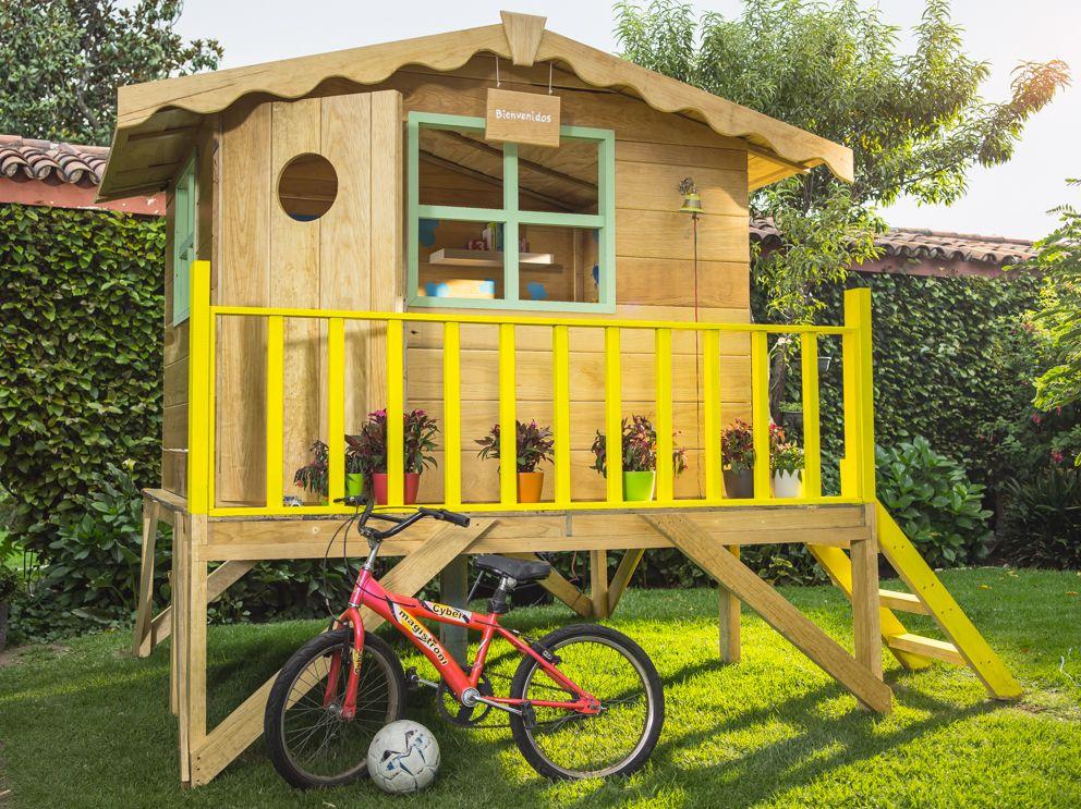 Te compartimos una excelente idea de una casita de madera for Casitas jardin ninos baratas