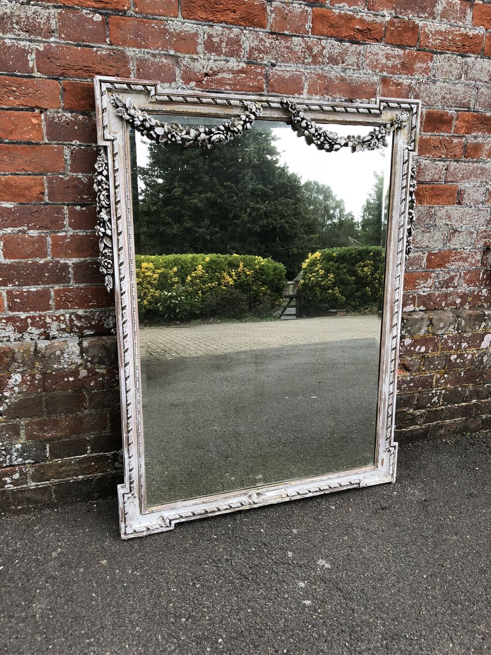 19th Century Antique French Mirror Mirror Painting French Antiques Floor Standing Mirror