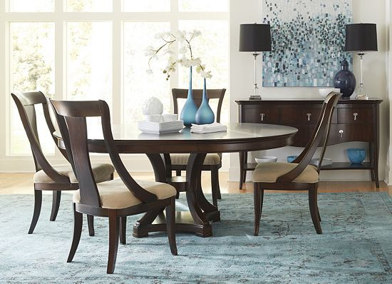 The Rich Dark Woods In Our Havertys Astor Park Dining Room Pair Perfectly With
