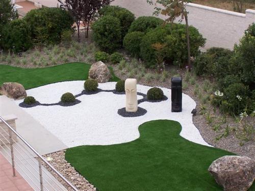 Piedra blanca para exteriores jardiner a pinterest for Decoracion de exteriores con plantas