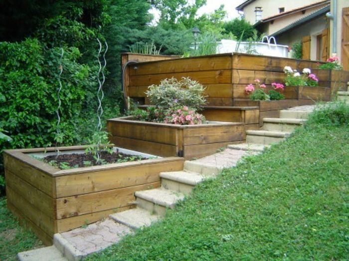 Aménagement jardin en pente - idées pour vous faciliter la tâche ...
