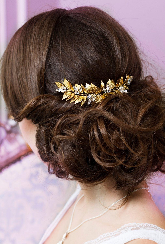 leaf hair comb bridal hair comb wedding hair piece grecian