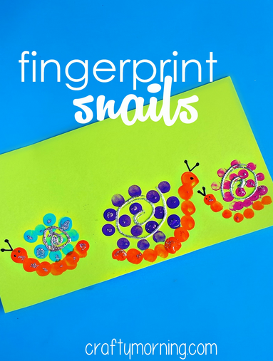Cute Fingerprint Snail Craft For Kids Easy Art Project For