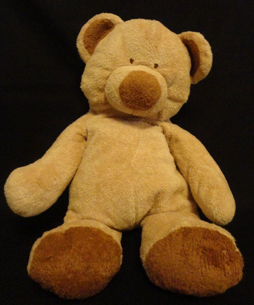 TY TYLUX Pluffies Tan Beige Teddy BEAR Baby Plush STUFFED 14\