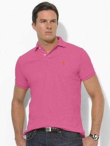 polo ralph lauren cheap Ralph Lauren Men\u0027s Classic-Fit Mesh Short Sleeve  Polo Shirt Pink http://www.poloshirtoutlet.us/ | Ralph Lauren Mens Polos ...