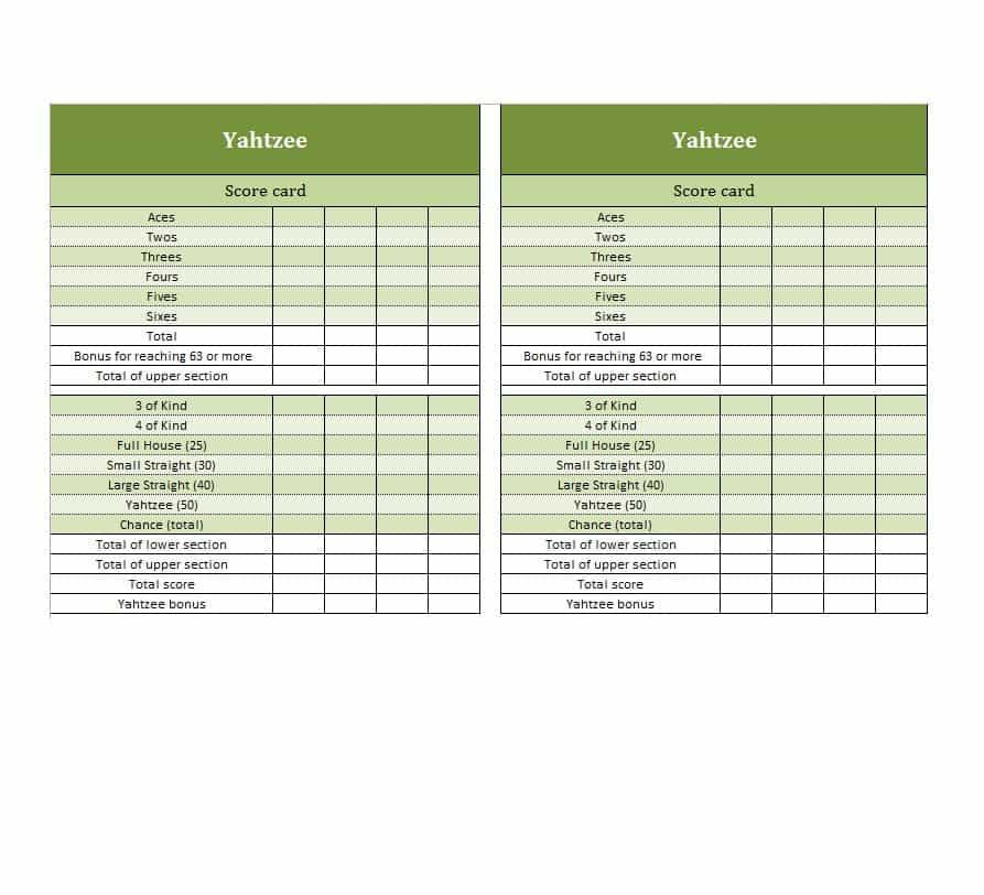 photograph about Printable Yahtzee Score Card Pdf known as There are a ton of printable Yahtzee rating sheets offered