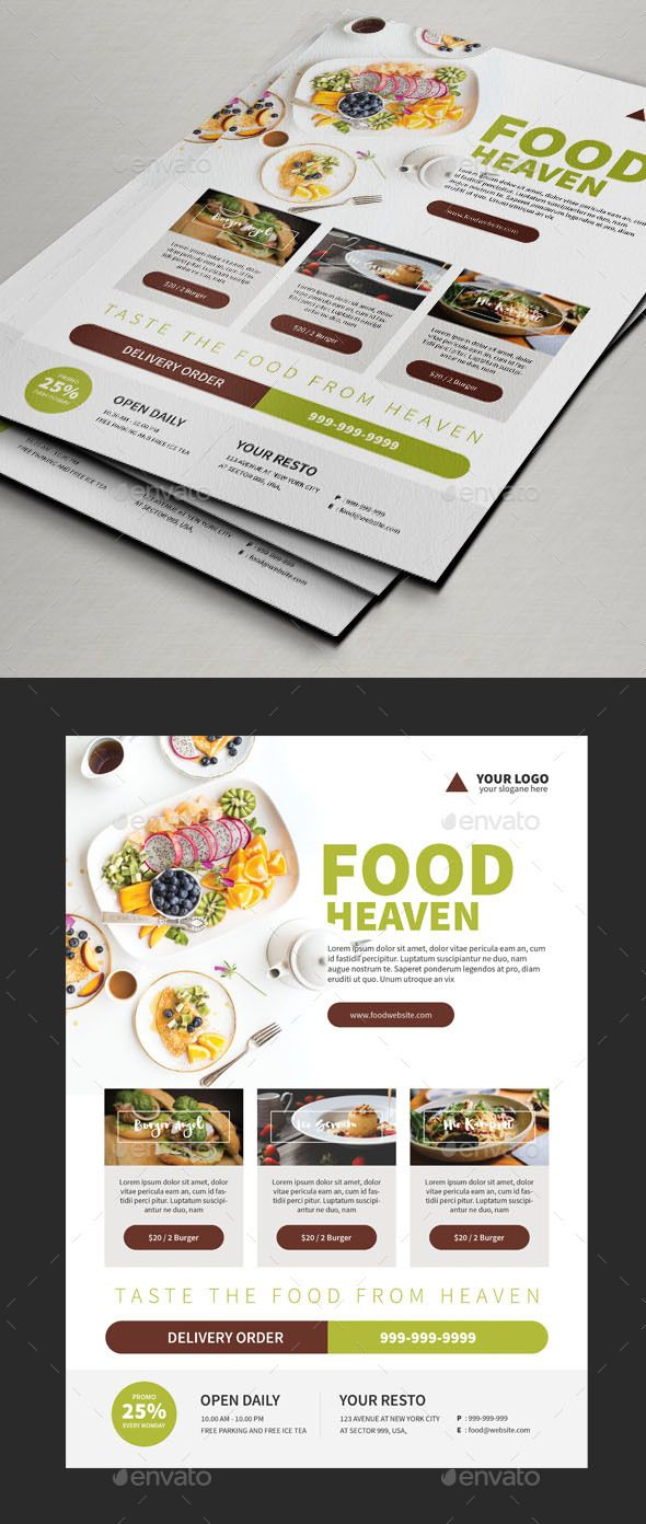 Foods  Flyer  Templates