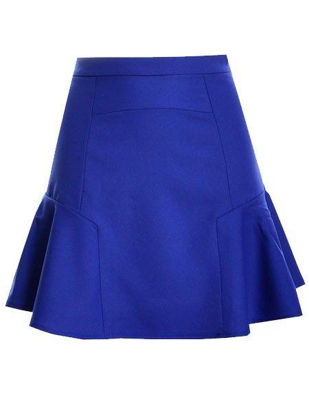 Falbala Plain Mini-skirt Mini Skirts from fashionmia.com