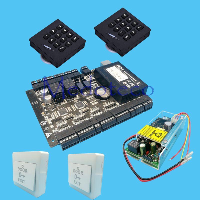 Diy Full Access Control Panel System 12v5a Power Unit 2pcs Keyapd 125khz Kr102e Rfid Reader Rfid Card Access Access Control Cool Things To Buy Panel Systems