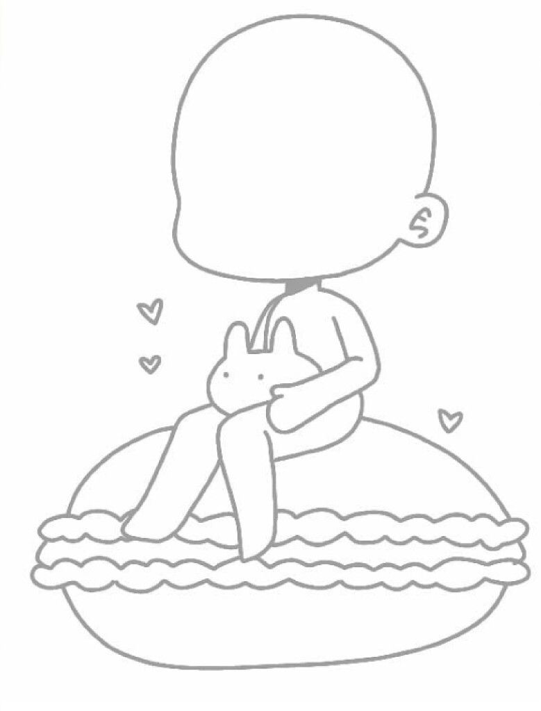 Gacha Base Chibi Sketch Drawing Base Anime Poses Reference