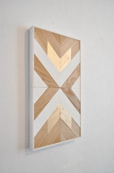 This Diy Wood Wall Art Kit Is As Easy As Putting Together A Puzzle Create Your Own Style Using The Colors You Wa Wood Wall Art Diy Diy Wood Wall Chevron
