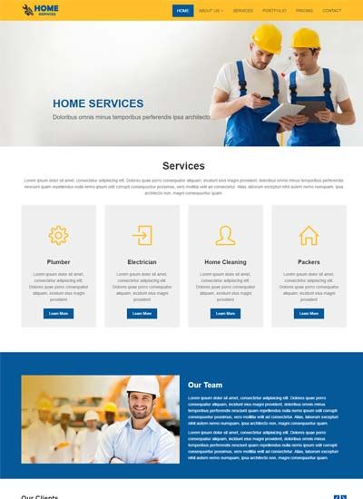 Home Services Bootstrap Website Template Website Template Free Html Website Templates Corporate Website Templates