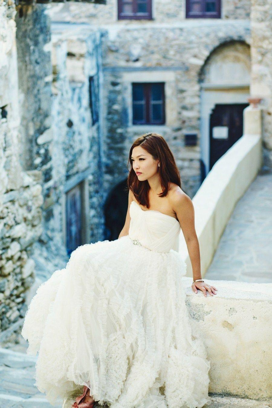 Dreamy Reem Acra wedding gown!