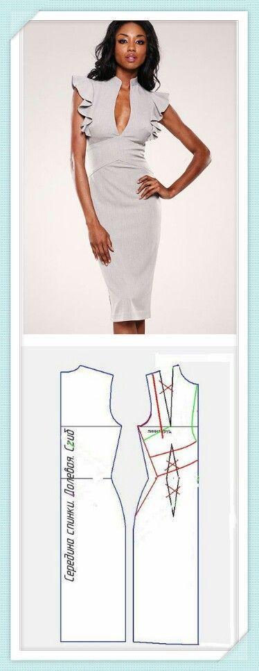 Pin de yanet lopez en vestidos | Pinterest | Costura, Vestidos y ...