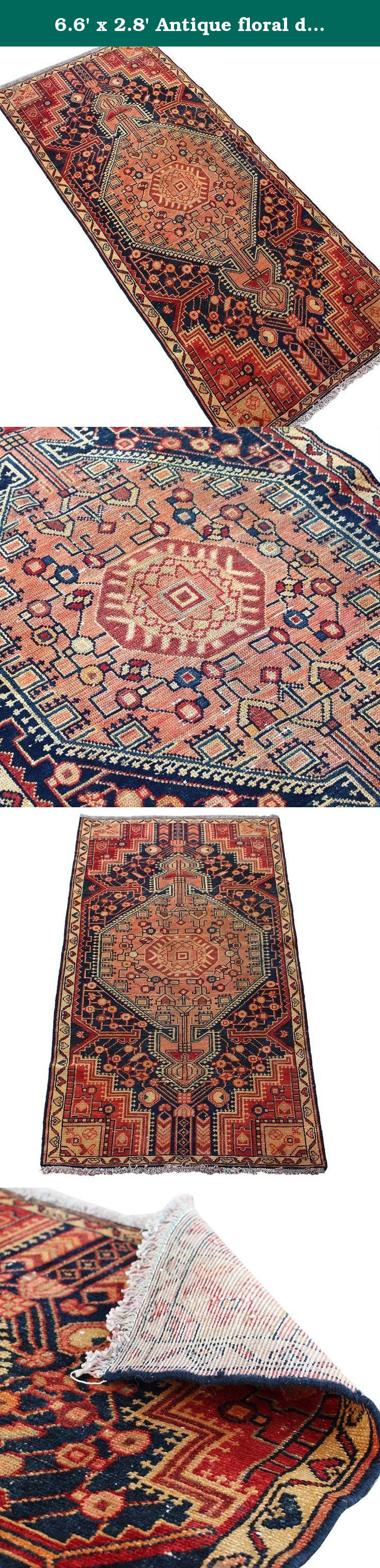 6.6' x 2.8' Antique floral design runner rug, Vintage traditional runner carpet, Floor Classy Kilim Carpet, Classical Fancy Handmade Rug, Red Turkish Rug.Code R0101690. Hand woven rug which comes from pure lamb wool sheared at the Beginning of spring and a mixture of organic colors. It would brighten up your place with its attractive color. need to need to mention being free of any chemical colors. Size: 6.6' x 2.8' Weight: 17 LB Product's code: R0101690 As an advantages of years of being…